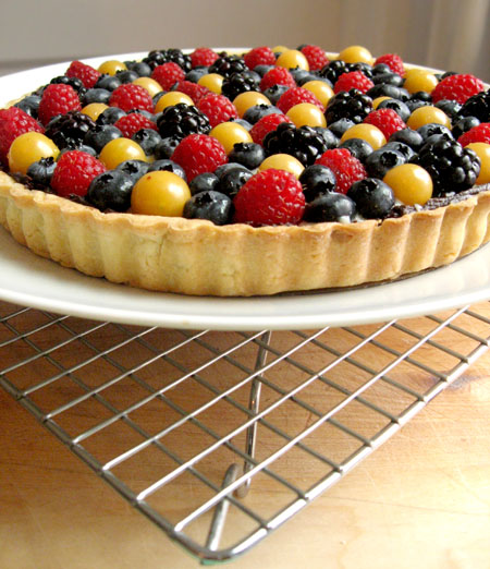 Classic Fruit Tart with sweet pastry crust and pastry cream