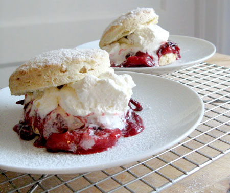 spiced plum shortcakes. | Sweet Girl Confections