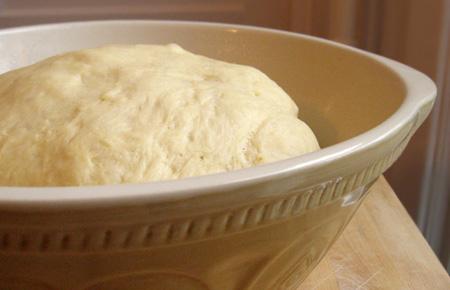 risen challah dough