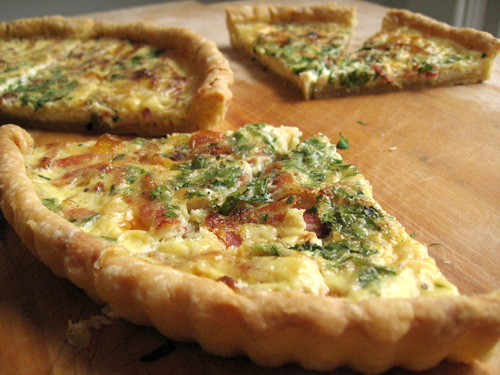 spinach and proscuitto quiche