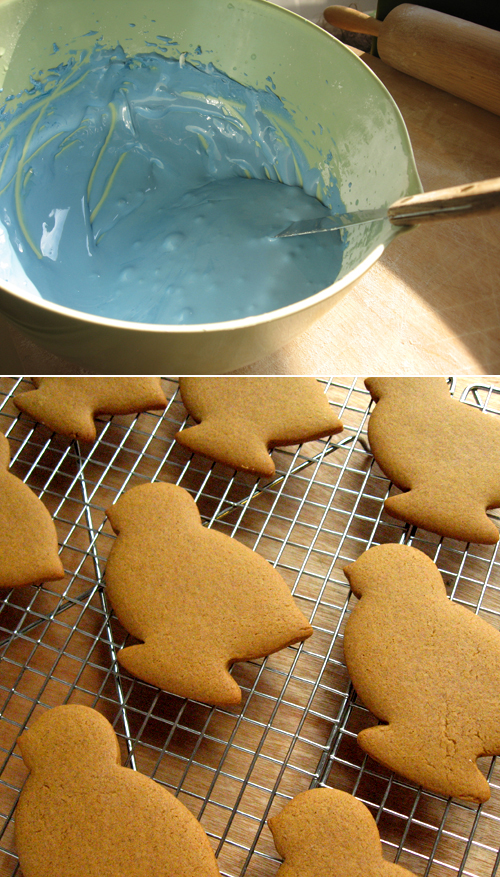 royal icing and gingerbread cookie