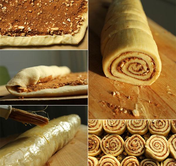 rolling sticky cinnamon rolls