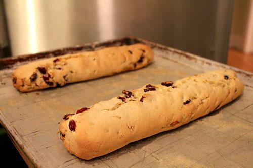 cranberry-ginger biscotti