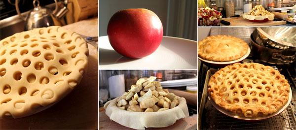 "deep dish apple pie with ""honeycomb"" crust"